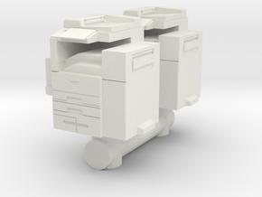 Office Printer (x2) 1/64 in White Natural Versatile Plastic