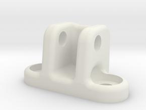 Super73 RX FRONT LIGHT bracket in White Natural Versatile Plastic