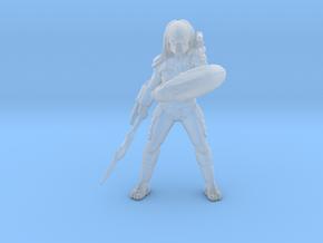 Predator Elite Hunter Alien Shield Spear miniature in Smooth Fine Detail Plastic