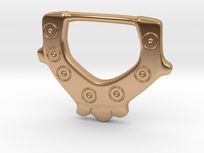 Ring-and-Dot buckle from Bromeswell in Polished Bronze