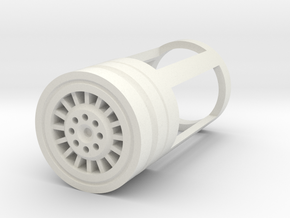 Blade Plug - Carbon in White Natural Versatile Plastic