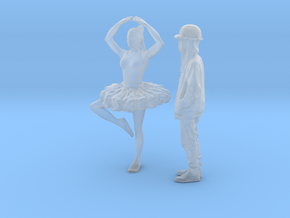 Printle BC Couple 1589 - 1/87 - wob in Smooth Fine Detail Plastic