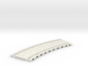 p-45xb-tram-curve-200-353-5r-1a in White Natural Versatile Plastic