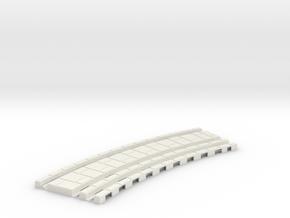 p-45-32xb-tram-curve-200-360r-1a in White Natural Versatile Plastic