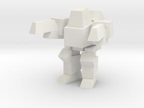 Peewee Pose 3 in White Natural Versatile Plastic
