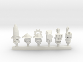 Tank Knight Heads Collection 1 in White Natural Versatile Plastic