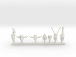 Tank Knight Heads Collection 2 in White Natural Versatile Plastic