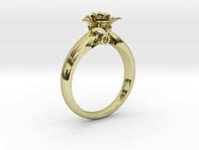 Flower Ring 42 (Contact to Add Stones) in 18K Yellow Gold