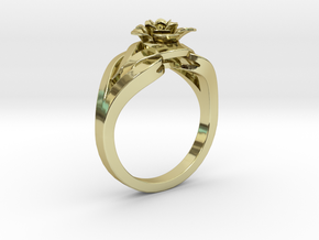 Flower Diamond Ring 203 (Contact to Add Stones) in 18K Yellow Gold