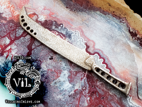 Part X Surgical MACHETE Pendant ⛧ VIL ⛧ in Polished Bronzed-Silver Steel