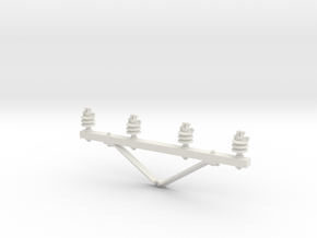 Cross arm in 1:24 scale in White Natural Versatile Plastic