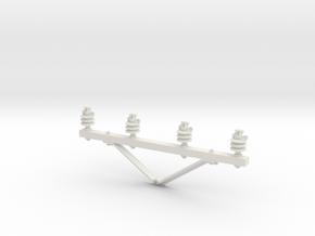 Cross arm in 1:24 scale in White Natural Versatile Plastic