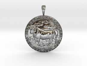 Taurus in Fine Detail Polished Silver