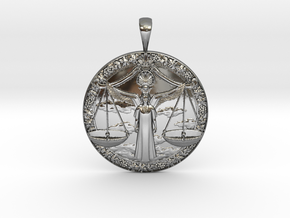 Libra in Fine Detail Polished Silver
