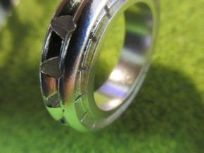 Ring X4 in Natural Silver: Small