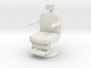 Barber chair 1/43 in White Natural Versatile Plastic