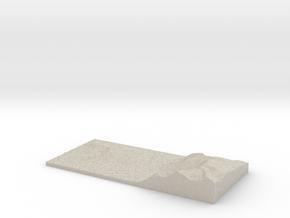 Model of Naustneset in Natural Sandstone