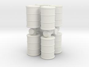 Oil Barrel (x8) 1/72 in White Natural Versatile Plastic