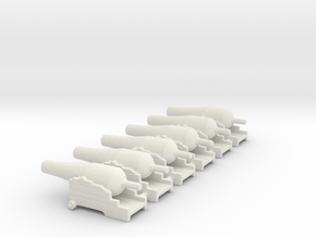 N SIX NAVAL CANNON GAME in White Natural Versatile Plastic