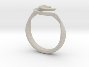 SpiralRing in Natural Sandstone