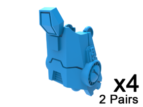 Standard Mech Leg Extensions in Smooth Fine Detail Plastic