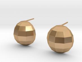 disco ball earrings polished in Polished Bronze