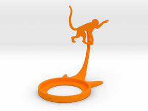 Animal Monkey in Orange Processed Versatile Plastic