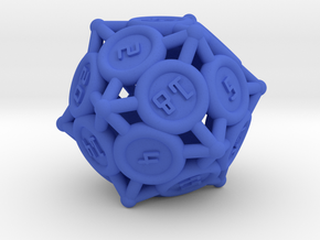 "d20 - ""Spikes"" in Blue Processed Versatile Plastic"