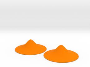 Pasties 2p6dia_0p7h plain in Orange Processed Versatile Plastic