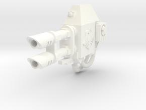 Space Crows Ares left lascannon #1 in White Processed Versatile Plastic