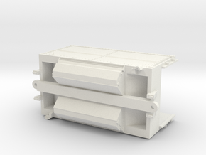 Burlington Northern Trough Train Intermediate Unit in White Natural Versatile Plastic