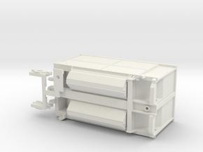 Burlington Northern Trough Train B-Unit in White Natural Versatile Plastic