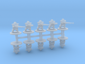 Mechanic Troopers 6mm infantry miniature model set in Smooth Fine Detail Plastic