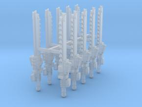 Primaris Pattern Chainswords x10 w/ hands L #1 in Smooth Fine Detail Plastic