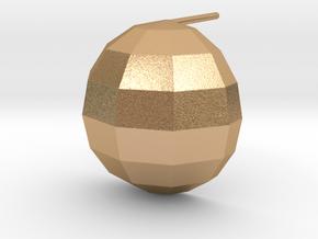 disco ball single post earring matte in Natural Bronze