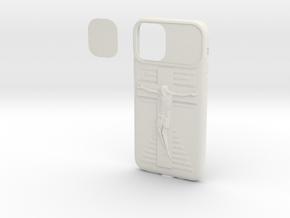 IPhone 11 Max Pro Jesus Cover in White Natural Versatile Plastic