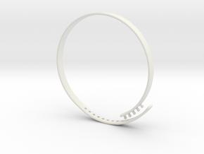 "Bracelet ""Solidarity"" in White Natural Versatile Plastic"
