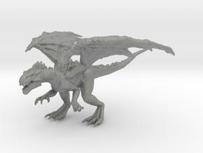 Fell Drake 55mm miniature model fantasy games rpg in Gray PA12