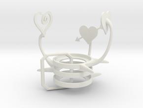 Valentine Set in White Natural Versatile Plastic