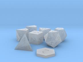 Polyset Horizontal + D2 - Fantasy Elf Font in Smoothest Fine Detail Plastic