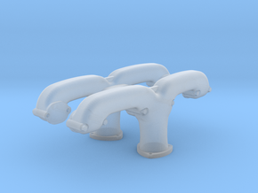 1:8 Chevy Small Block Ram Horn Exhaust Manifold in Smooth Fine Detail Plastic
