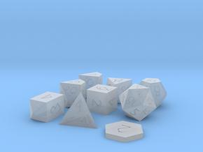 Polyset Vertical + D2 + D4C - Fantasy Elf Font in Smoothest Fine Detail Plastic