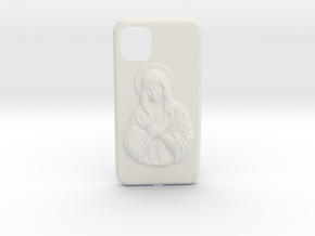 IPhone 11 Holy Mary Case in White Natural Versatile Plastic