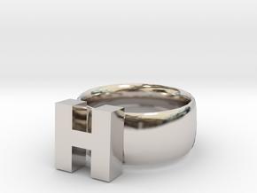 H Ring in Platinum