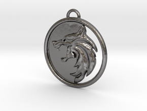 Witcher Pendant (Netflix) in Polished Nickel Steel