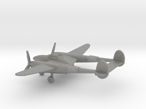 Lockheed P-38 Lightning in Gray PA12: 1:200