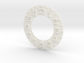 Hudson Clock Numbers - Raised - Full Thin in White Processed Versatile Plastic
