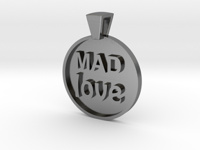 Mad Love Pendant in Polished Silver