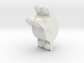 lego bionicle titan leg/hand piece in White Natural Versatile Plastic