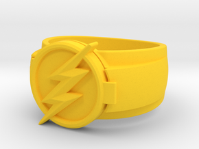 Fastest Man Alive Ring in Yellow Processed Versatile Plastic: 8 / 56.75